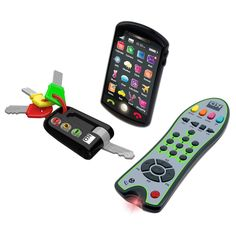 Kidz Delight Tech Trio Set - Give your child his own keys, phone, and remote with the Kidz Delight Tech Trio Set . Fun and ideal for imaginary play, the smartphone features. Toddler Toys, Baby Toys, Kids Toys, Toddler Stuff, Toddler Girl, Teaching Colors, Tech Toys, Toys Online, Learning Toys