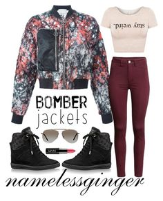 """""""stay weird"""" by namelessginger ❤ liked on Polyvore featuring 3.1 Phillip Lim, H&M, Tom Ford, NYX and bomberjackets"""