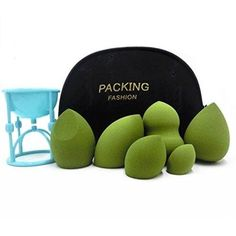 Makeup Sponges 6 Pc Beauty Pro Makeup Blender Sponge, Holder Storage Travel Bag #SSsusea