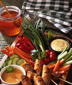 Honey-Curry Vegetable Dip. Perfect for your Super Bowl Party! #client