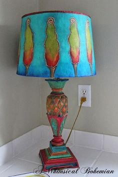5 Creative Tricks Can Change Your Life: Floor Lamp Shades Living Spaces lamp shades art how to make.Victorian Lamp Shades Vintage old lamp shades sheet music. Colorful Lamp Shades, Old Lamp Shades, Rustic Lamp Shades, Painting Lamp Shades, Floor Lamp Shades, Ceiling Lamp Shades, Painting Lamps, Floor Lamps, Shades Window