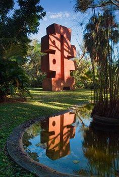 Ann Norton Sculpture gardens combine monumental art with naturally beautiful surroundings.