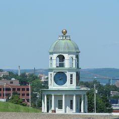 Clock Tower from hotel roof. Nova Scotia, Towers, San Francisco Ferry, Clocks, Canada, Building, Travel, Viajes, Tours