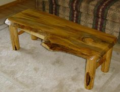 DIY Log coffee table
