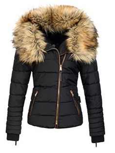 Ericdress Slim Faux Fur Zipper Jacket 13114246 - Ericdress.com