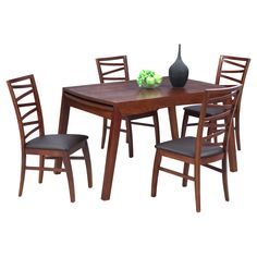 Have to have it. Chintaly Cheri Dining Table with Extension - Solid Oak - $607.42 @hayneedle