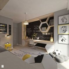 Stylish and Modern Apartment Decor Ideas 077 Teen Room Decor Ideas Apartment Decor Ideas Modern Stylish Modern Apartment Decor, Teenage Room, Industrial Bedroom, Kids Room Design, Kid Spaces, Boy Room, Child's Room, Room Lamp, Desk Lamp