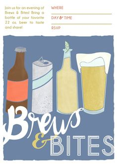 Brews and Bites Beer Tasting Party Printables