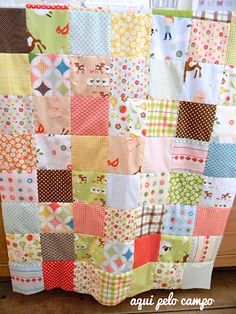 Cute old fashioned quilt.. Eric's mamaw is 91 and still makes these quilts from old polyester scraps..i LOVE them and i LOVE her 2
