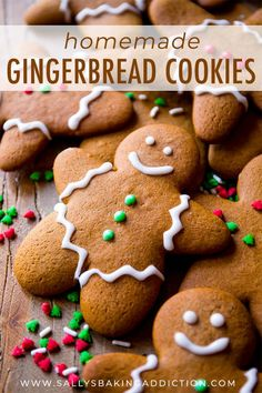 This is the best recipe for gingerbread men! Easy to mix together, taste unbelie. This is the best recipe for gingerbread men! Easy to mix together, taste unbelievable, and fun to decorate! Gingerbread cookie recipe on sallysbakingaddic. Best Gingerbread Cookies, Holiday Cookies, Holiday Desserts, Holiday Baking, Holiday Treats, Cookie Desserts, Easy Gingerbread Recipe, Easy Christmas Cookies, Gingerbread Dough