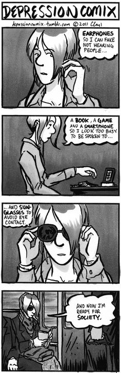 depression comix is a weekly webcomic that focuses on life with depression and related mental illnesses through the eyes of sufferers and those that support them. Depression Help, Deviant Art, Anxiety Girl, Mental Health Recovery, Psychology Disorders, Social Anxiety, Mental Illness, Bullshit, Thoughts