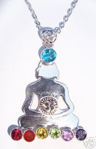 925 St Sterling Silver Chakra Gemstone Buddha OM Belly With Purple Amethyst Orange Citrine Blue Carnelian Green Peridot Jade Green Aventurine Red Garnet Yellow Topaz Stones Necklace Jewelry 1 3/4 by 1 3/8 inches With A Beautiful Heavily Plated St Silver Chain Enlightened Expressions. $24.50. Solid 925 Sterling Silver. With Purple Amethyst Orange Citrine Blue Carnelian Green Peridot Jade Green Aventurine Red Garnet Yellow Topaz Stones. 1 3/4 by 1 3/8 inches. Silver Ch...