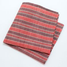 1930s Pullman Stripe Pocket Square - vintage ties handmade in the United States