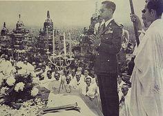 เสด็จฯ บุโรพุทโธ King Bhumipol, King Rama 9, King Of Kings, King Queen, King Thailand, Queen Sirikit, Bhumibol Adulyadej, Great King, Royalty