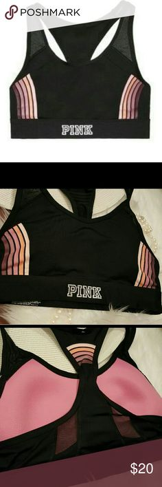 VICTORIA'S SECRE PINK NWT ULTIMATE SCOOP SPORTBRA Brand new in package  ( considered new with tags NWT) Victoria's Secret PINK Sz Large  Ultimate scoop neck lined, medium impact sport bra Pullover style  Very hard to find,  sold out every where  This matches the ultimate pants in this pattern  #vspink #struggleisreal #fashion #style #travel #BEACHBABY #vsbombshellbaby@jeanne_rowe #vspinkoutfit@nanarowe #workout #yoga@Poshmarkapp #workout @poshmarkapp PINK Victoria's Secret Intimates…