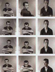 One person different poses'; emotions etc.Jack Kerouac. via Andy Adams/Flak Photo.