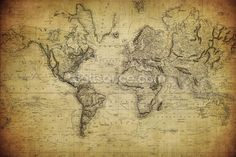 19th Century Vintage Map wall mural