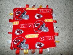 Kansas City Chiefs Tag Blanket on Etsy, $15.00