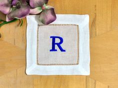 Monogrammed Linen Cocktail Napkins a must have!