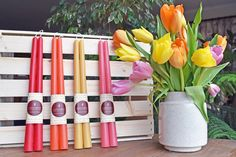 Mother's day gift idea - natural beeswax candles in a wide variety of colors!