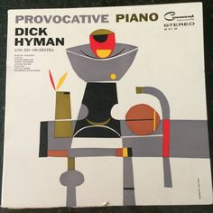 1960 Vintage Retro Provocative Piano Record Album in cool sleeve with Abstract Art by S. Neil Fujita- Frameable and Playable
