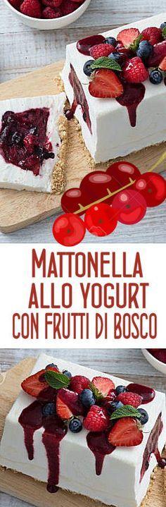 Mattonella allo yogurt con frutti di bosco