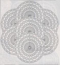 nastro di pizzo 27 - schema di lavoro a maglia