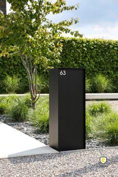 Modern Mailbox, Garden Park, Front Yard Landscaping, Rue, Landscape Architecture, Signage, Entrance, Exterior, House Design