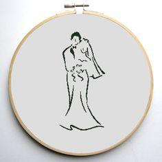 Wedding cross stitch pattern  cross stitch pattern wedding