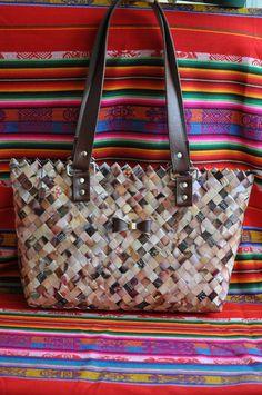 CHARLEENE Magazine clipping bag Eco handmade di ColorYourLifebyM