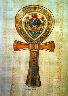 Egypt - Ankh - Key of Life. Ancient Art, Ancient Egypt, Ancient History, Egyptian Symbols, Egyptian Art, Art Ancien, Gods And Goddesses, Ancient Civilizations, Book Of Shadows