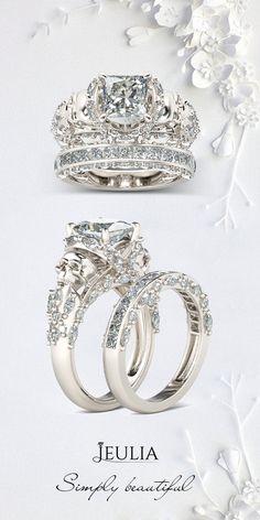 Jeulia Princess Cut Created White Sapphire With Marquise Sidestone Skull Ring #Jeulia