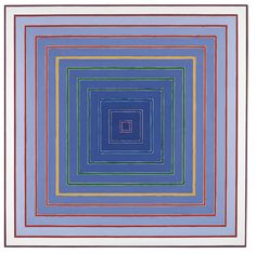 "Frank Stella: Sacramento Proposal #3 (1978) Acrylic on canvas 103 3/8"" x 103 3/8"""