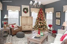 The tree is up, the wreath is hung… I'm officially ready for Christmas. Well besides that whole shopping, cooking, baking thing. Last week I showed you guys my Christmas kitchen and family room, but today I'm taking you on a tour of my final decorated space… the sun room. And I think this is my …