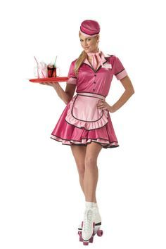 Pin Up for Prems: Sept: Roller Skating Waitress 1950 Style, Adult Costumes, Dance Costumes, Halloween Costumes, 1950s Costumes, Group Halloween, Halloween Ideas, Happy Halloween, Poses