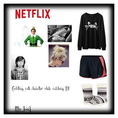 """""""CUDDLING WITH CHANDLER RIGGS WHILE WATCHING ELF"""" by jjeesa ❤ liked on Polyvore featuring Mode, NIKE und M&F Western"""