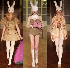 Body of Work: Undercover Returns to Paris - Vogue Daily - Vogue - reminds me of the rabbit from Alice in Wonderland