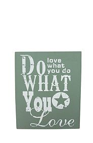 DO WHAT YOU LOVE TO DO WALL PLAQUE #MrPYourHome
