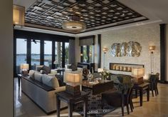 room: Living Room, Contemporary room by ADRIANA HOYOS INTERIORS