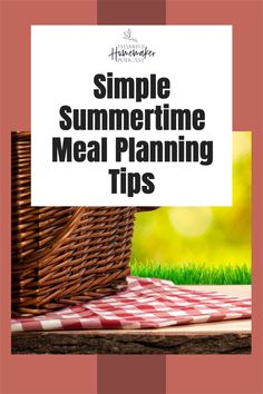 Sharing some simple tips that will help you to stick with meal planning over the summer so you can enjoy your family time together. Christian Homemaking, Marriage Help, Proverbs 31, Menu Planning, Summer Recipes, Cleaning Hacks, Saving Money, Summertime, Encouragement