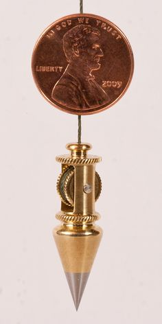 Miniature Brass Plumb Bob Built in Reel by QualityInVermont, $200.00