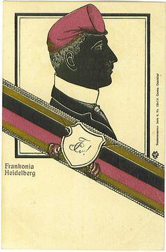 Burschenschaft Frankonia Heidelberg Baseball Cards, Color, Heidelberg, Cards