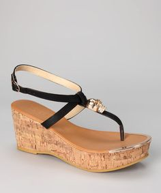 Black Waverly Wedge by Bucco     I think I could get away with wearing these and not hurting too much.