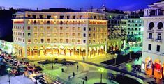 Located in the impressive Aristotelous Square, the byzantine-inspired, Electra Palace Thessaloniki features a rooftop bar-restaurant with panoramic. Neo, Team Building Activities, Palace Hotel, Rooftop Bar, Thessaloniki, Greek Islands, Restaurant Bar, Greece, Dolores Park