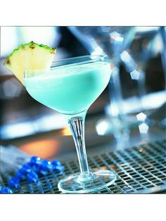 """Blue Hawaiian - Frozen Drinks.  Is it okay to serve """"adult"""" drinks at a kids' party?  lol - it's so cute and would match the theme ;)"""