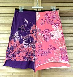 Women's Upcycled Skirt / Floral Casual / Size Medium