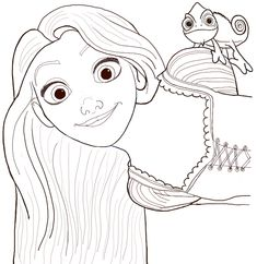 What strikes a chord when you initially hear the word 'Disney'? Disney has given us so many characters to be fond of. Out of those characters, one iconic character is Rapunzel. Rapunzel is the main Disney Drawings Sketches, Disney Princess Drawings, Cartoon Drawings, Easy Drawings, Drawing Sketches, Rapunzel Sketch, Rapunzel Drawing, Rapunzel Disney, How To Draw Rapunzel