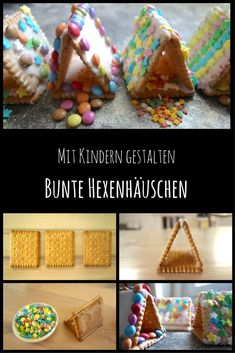 Hexenhaus basteln mit Kleinkindern. Anstelle von einem Lebkuchenhaus: Dieses Hexenhaus aus Butterkeks lässt sich sogar mit Kleinkindern easy und schnell basteln, schön sieht es auch aus! #basteln #weihnachtsbasteln  #hexenhaus #bastelnmitkindern #lebkuchenhaus www.frau-mutter.com