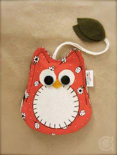 cute owl keychain holder