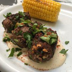 Ottolenghi's Kofta b'siniyah - @Culyzaar Yotam Ottolenghi, Eastern Cuisine, First Bite, Middle Eastern Recipes, Entrees, Low Carb, Beef, Iranian, North Africa